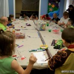 Kite Making at the Children's Cancer Center- Starna with the kids