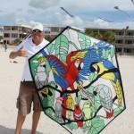 KiteOberFest - Steve De Rooy handmade Rokkaku at KiteOberFest