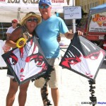 KiteOberFest - Steve and Sue with new Kites made By Robert Brasington