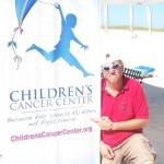 KiteOberFest - Steve and the Children's Cancer Center Sign