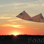 Custom Zen Revolution kite at sunset