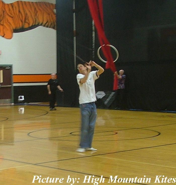 John Barresi at the Lincoln City Indoor Kite Festival