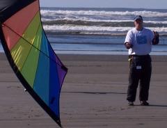 Con flying Skydancer at Ocean Shores 2007