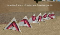 """Hyperkite 7 stack """"Cheater"""" size Freestyle graphic"""
