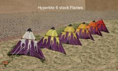 Hyperkite 6 stack purple flames