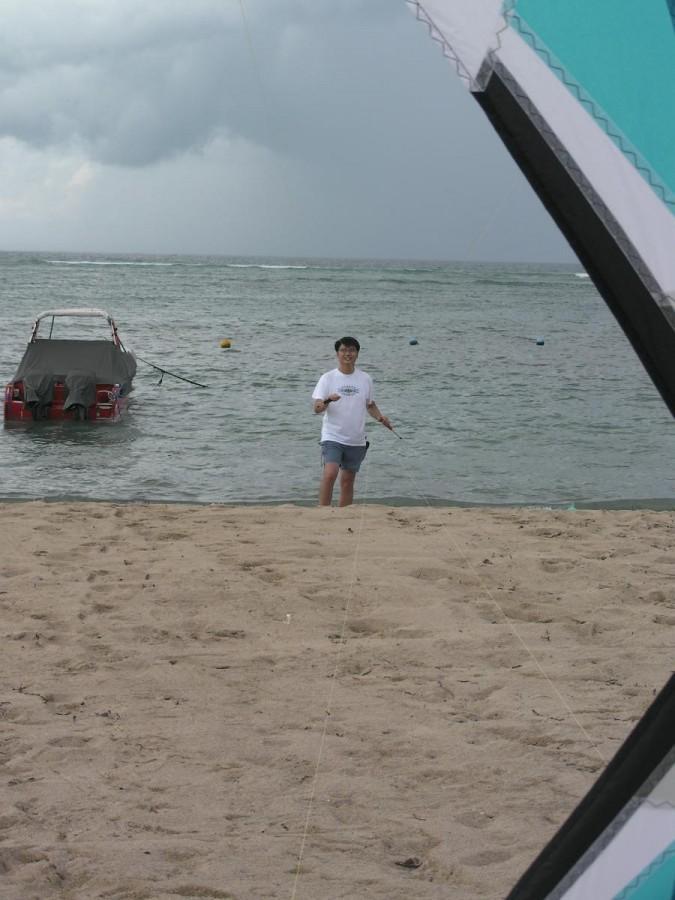 Rev-ing in Bali's Nusa-Dua beach..