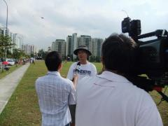 Being Interviewed by MediaCorp Channel 8 for the evening news.