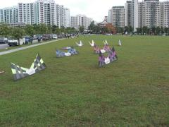 Revolution kites at rest...