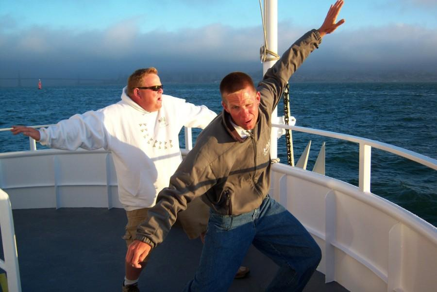Bow surfing on a cruise around the SF Bay Area