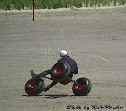 Kite buggy freestyle