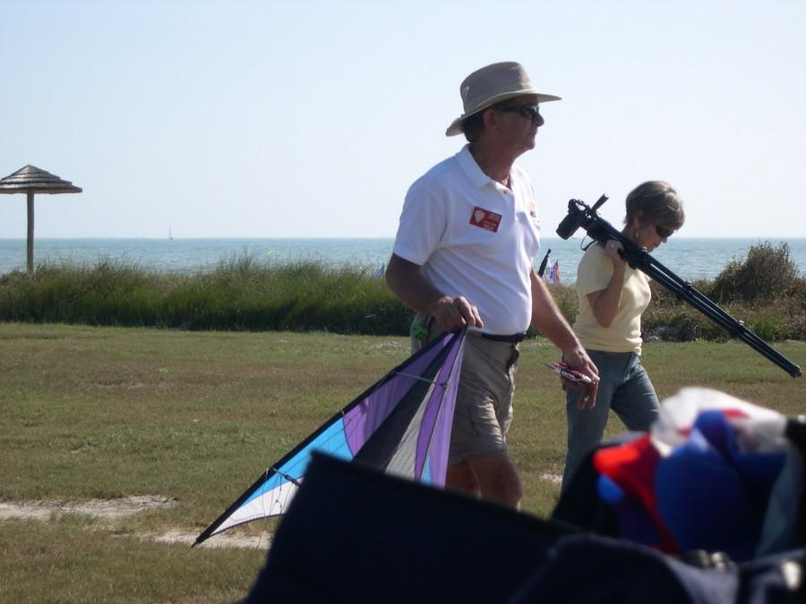 Heading  over to the sport kite area
