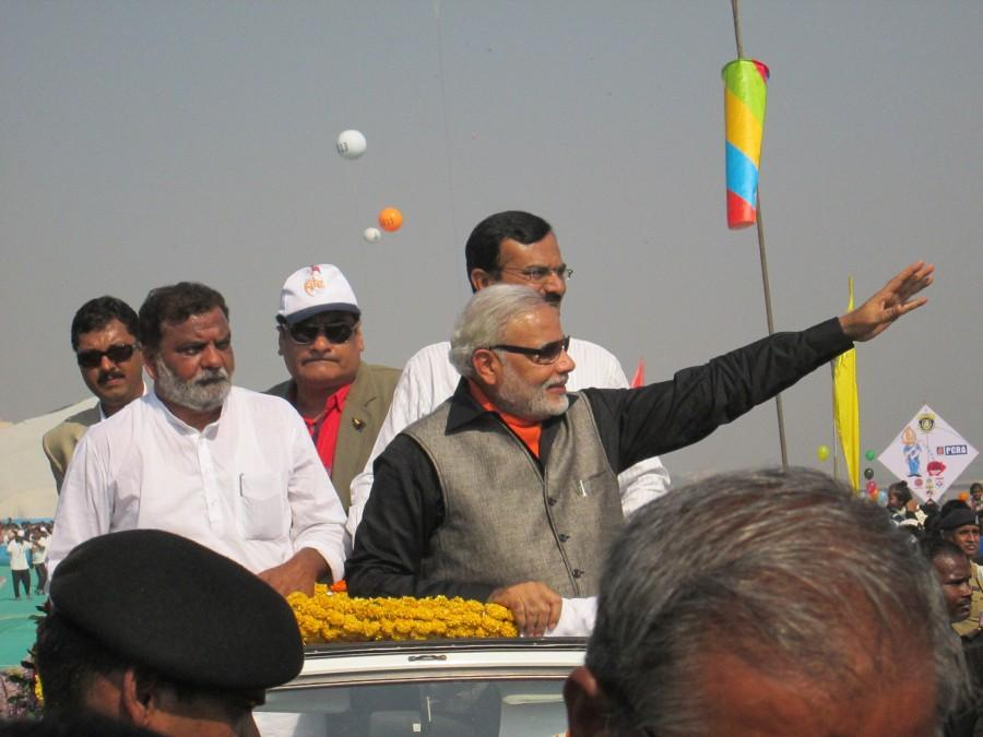 Narendra Modi - Chief Minister Gujarat at International Kite Festival 2013