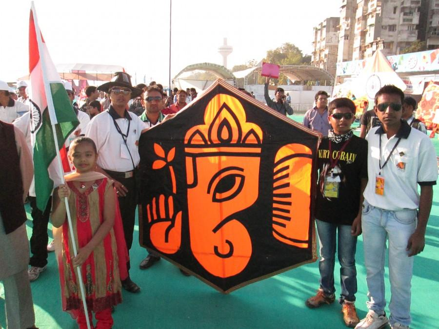 International Kite Festival 2013, Ahmedabad, Gujarat, India