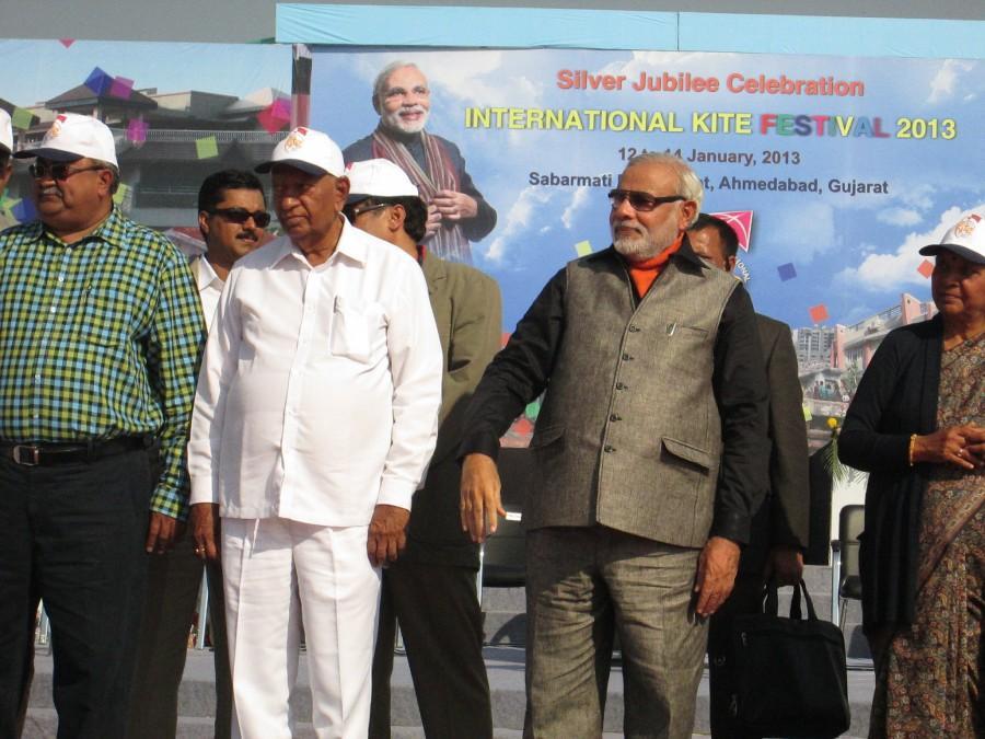 Narendra Modi - CM Gujarat at International Kite Festival 2013