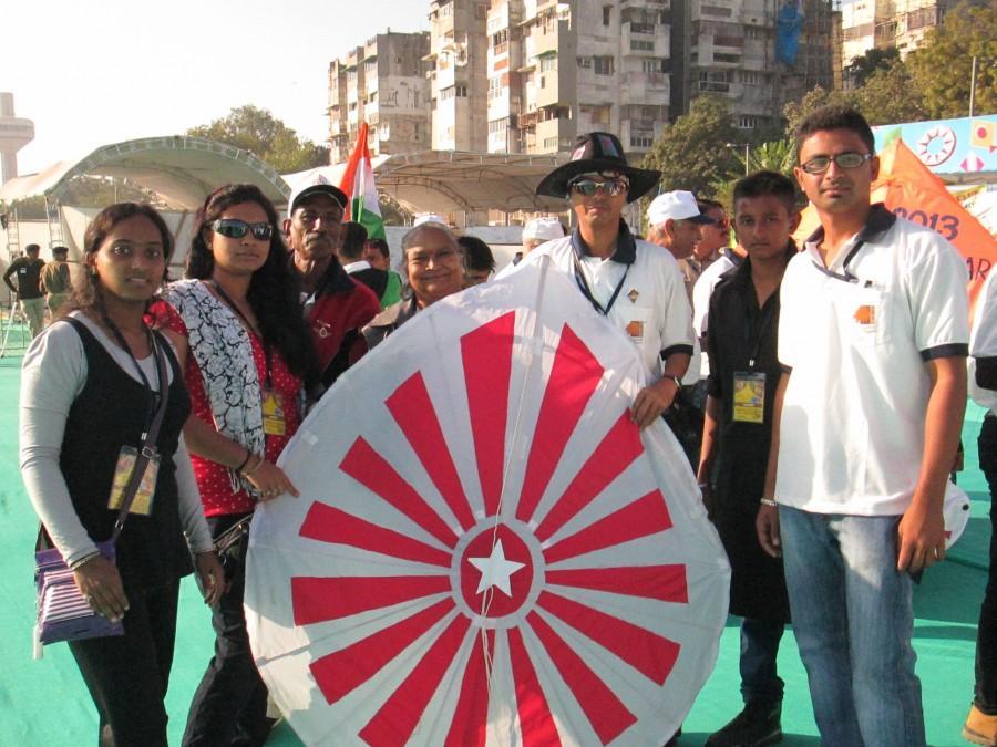 International Kite Festival 2013 - Ahmedabad, Gujarat, India