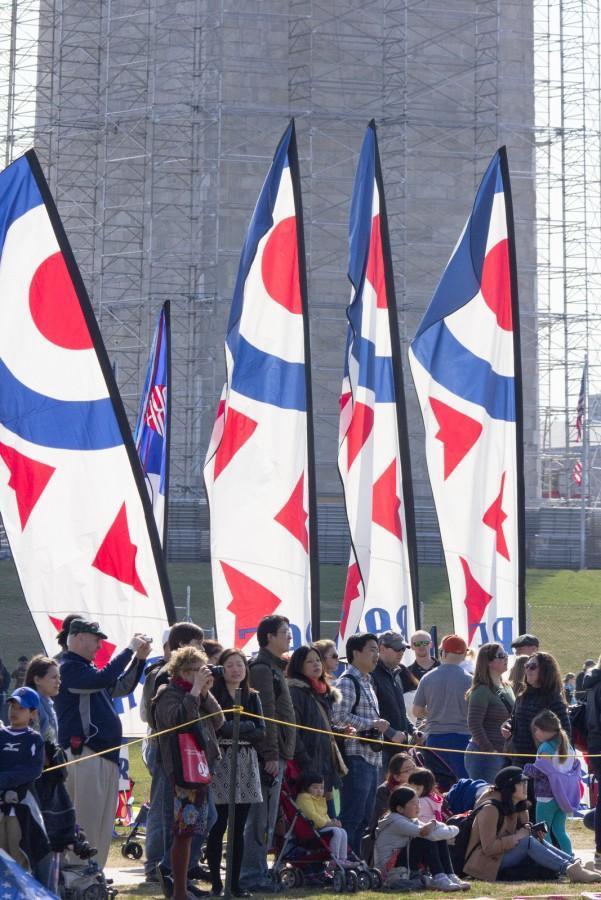 CB 2013 - RAF Banners before Monument.jpg