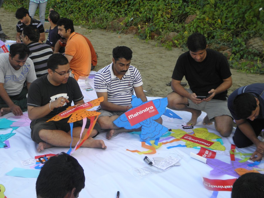 Brand Promotion with Kite Making And Flying