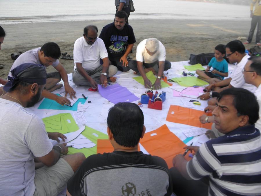 Executives Making Kites