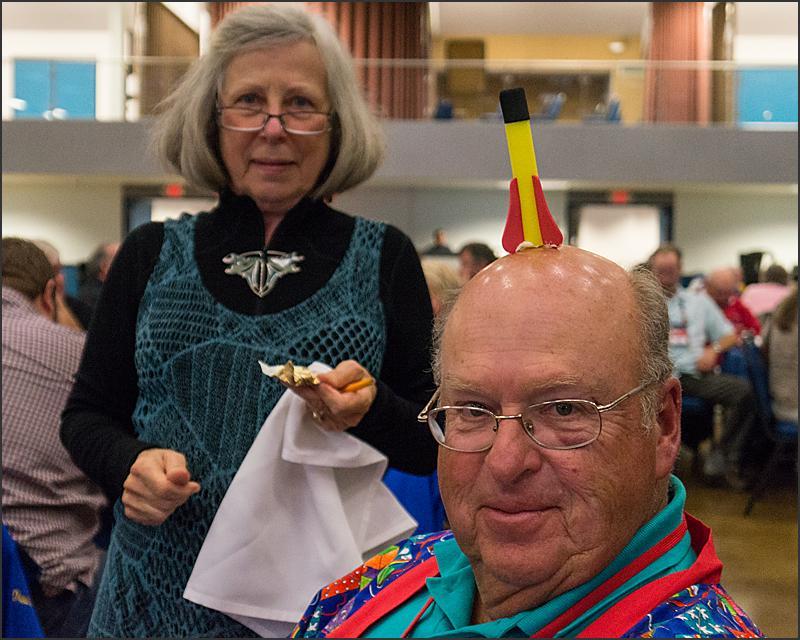 Fun and games at the awards banquet