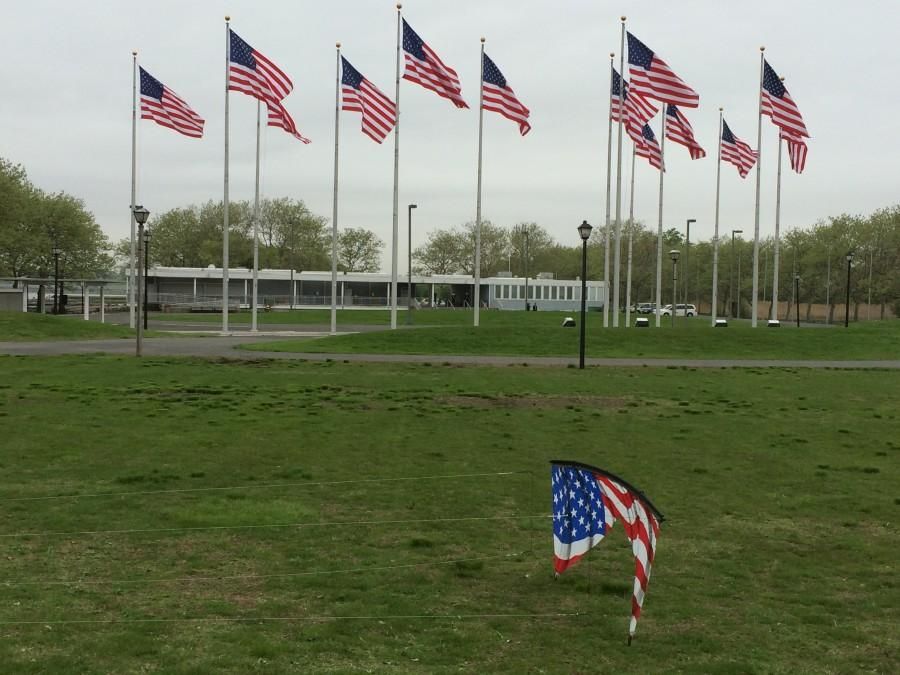 Liberty State Park with the other Flags