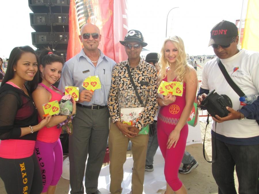 Gold Gym Dubai Team at Dubai International Kite Festival 2014