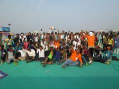 International Kite Flyers at IKF 2014, Ahmedabad, Gujarat, India