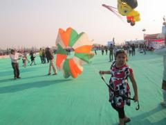 Riya Solanki - Smallest International Kite Flyers at IKF 2014
