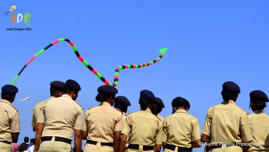 2 line 3d inflattable snake kite Adk ashok designer kites 1