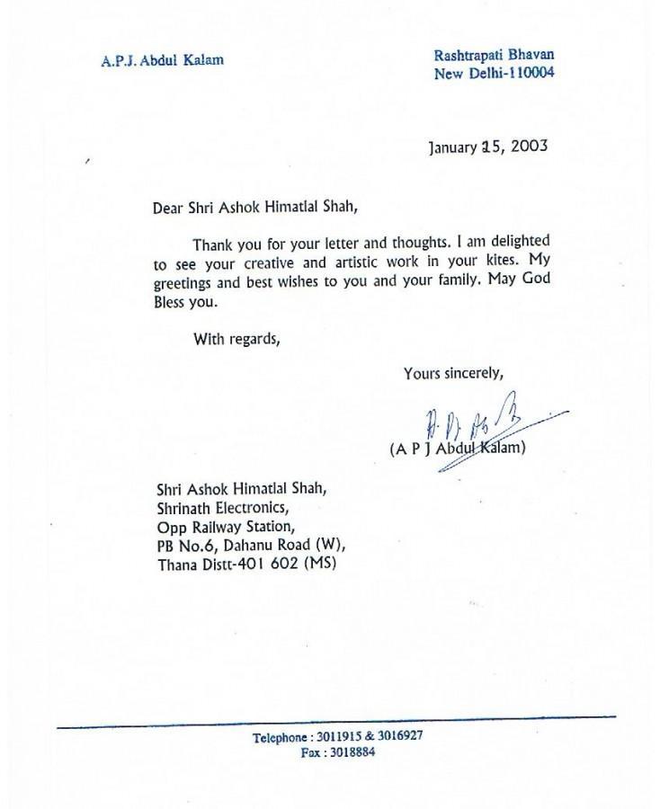 President A.P.J. Abdul Kalam INDIA, Ashok Designer Kites