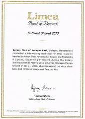 Limca book of records Ashok Designer Kites