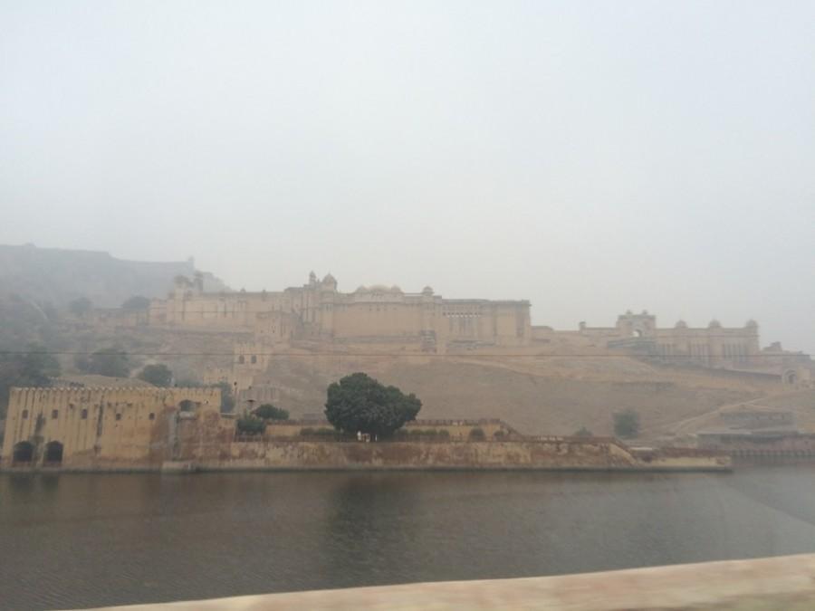 Huge hillside palace outside Jaipur