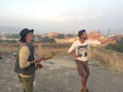 Ajay and Prashant Prakesh battle neighbors.