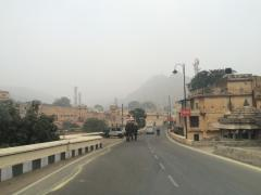 The start of Elephant Road outside Jaipur