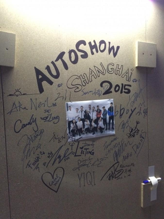 Signatures from the whole Volkswagen show team