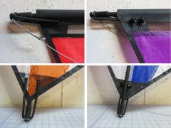 Endcaps, bungee, bridle details