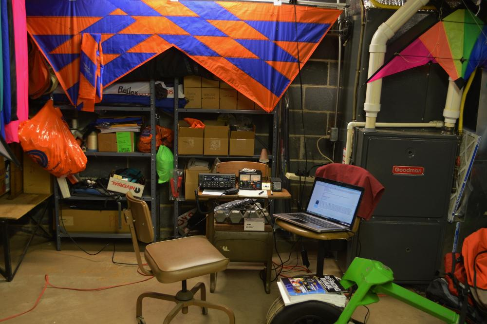 New Amateur Radio station KN4KQT in the Kite Dungeon