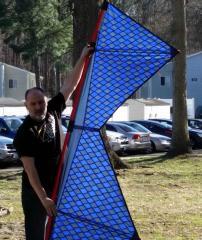 Diamonds kite backlit