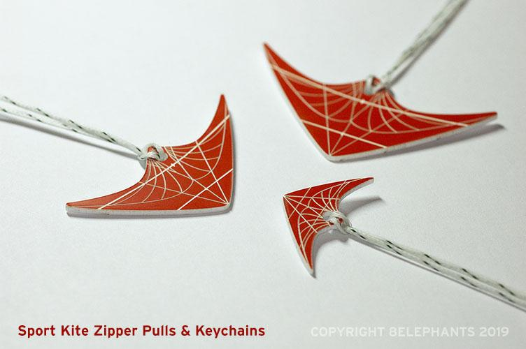 Sport Kite Zipper Pulls & Kechains