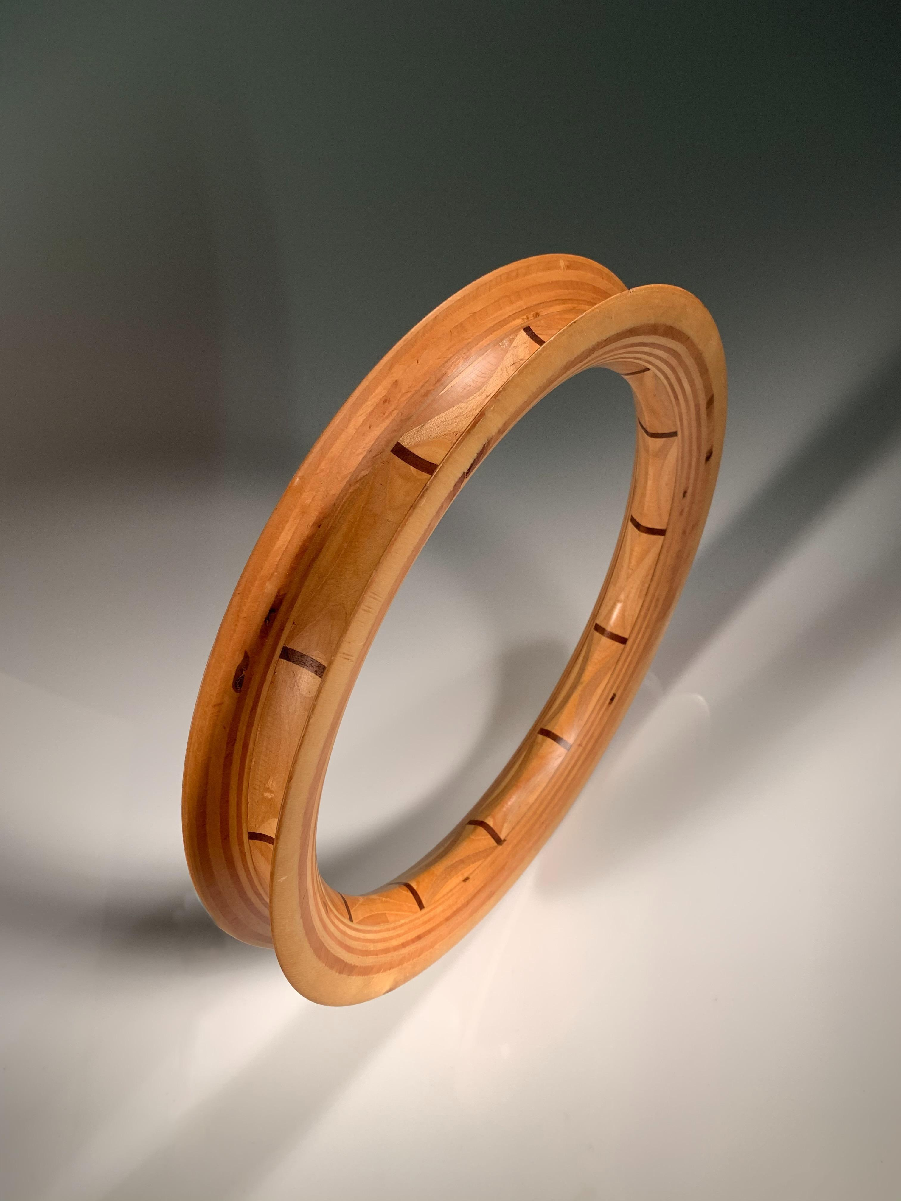 Large Turned Wood Hoop Winder For Single-Line