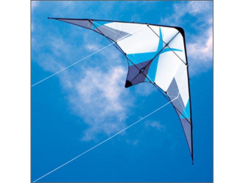 Kymera by Barresi Dual Line Stunt Kite in Blue, New $175